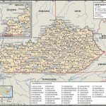 State And County Maps Of Kentucky Intended For Printable Map Of Kentucky