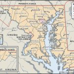State And County Maps Of Maryland Inside Printable Map Of Maryland