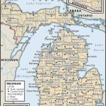 State And County Maps Of Michigan Throughout Michigan County Maps Printable
