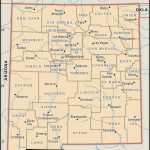 State And County Maps Of New Mexico In New Mexico State Map Printable