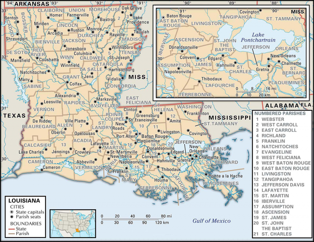 State And Parish Maps Of Louisiana intended for Louisiana State Map Printable