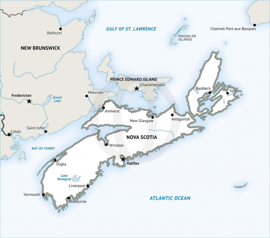 Stock Vector Map Of Nova Scotia   One Stop Map in Printable Map Of Newfoundland