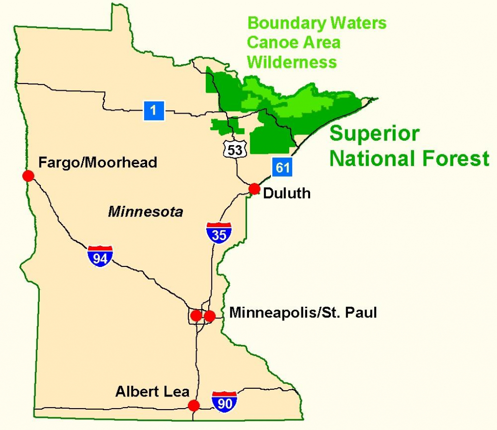 Superior National Forest - Maps & Publications with regard to Printable Maps By Waterproofpaper Com