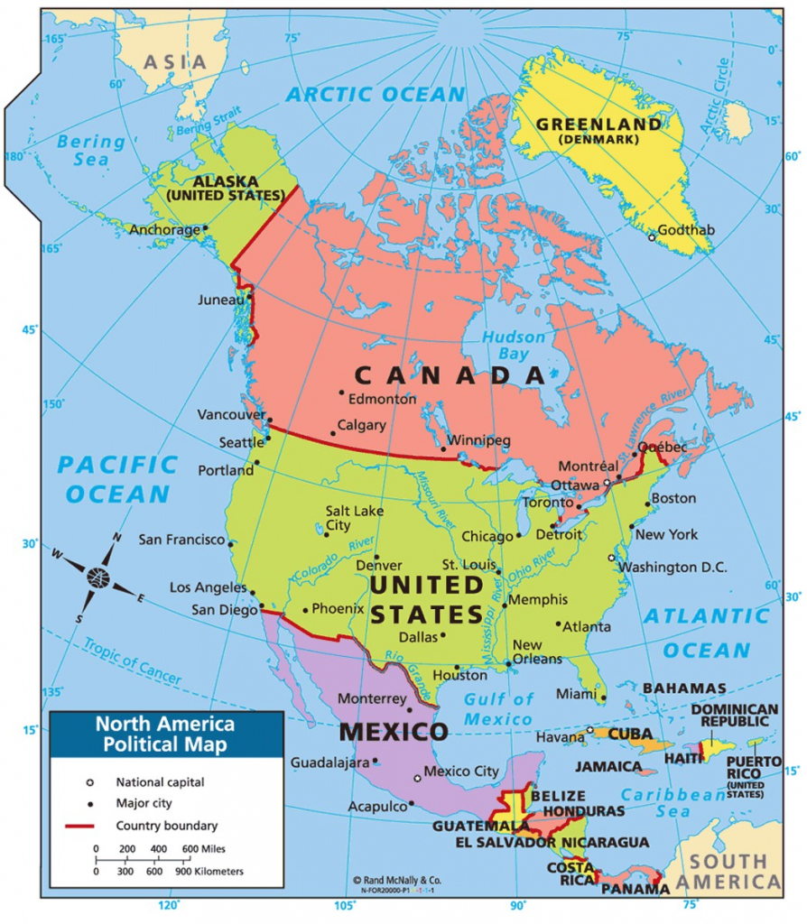 Survival Kids Map Of North America Political Google Search Geography within Printable Map Of North America For Kids