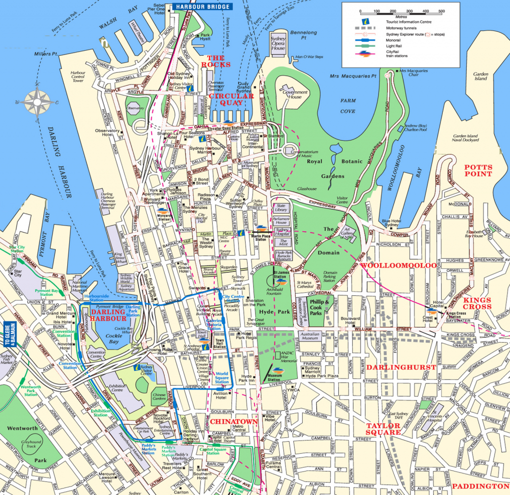 Sydney Attractions Map Pdf - Free Printable Tourist Map Sydney intended for Printable Map Of Sydney