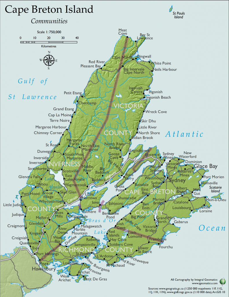 Sydney Cape Breton Island Canada Cruise Port Of Call throughout Printable Map Of Nova Scotia Canada