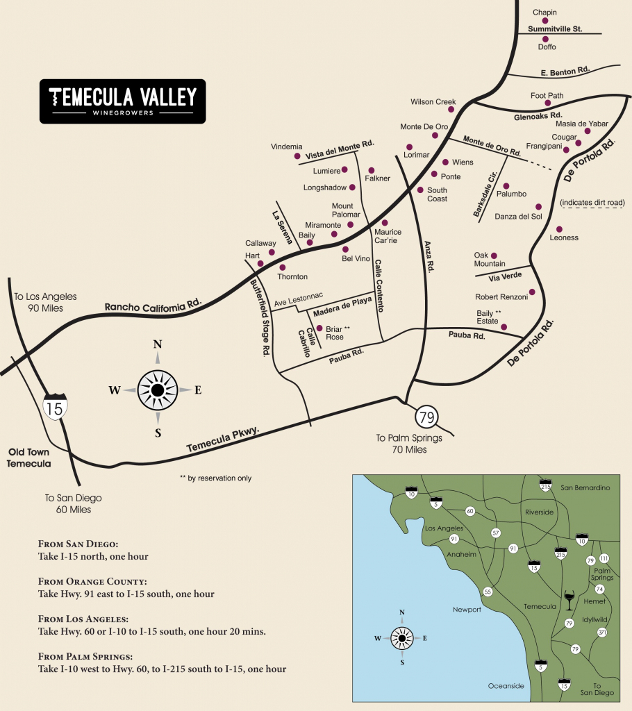 Temecula Valley Winegrowers Association - Winery Map | California regarding Temecula Winery Map Printable