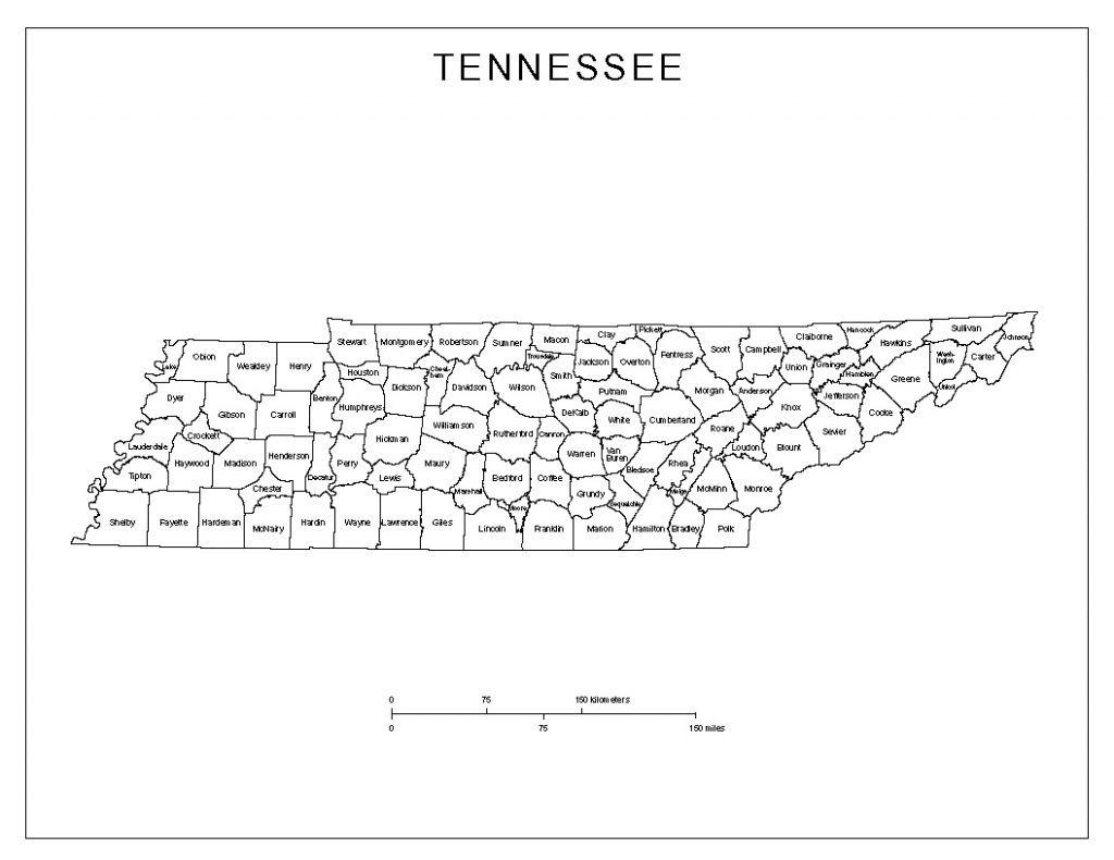 Tennessee Labeled Map intended for Printable Map Of Tennessee Counties