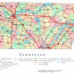 Tennessee Printable Map Regarding Printable Map Of Tennessee With Cities