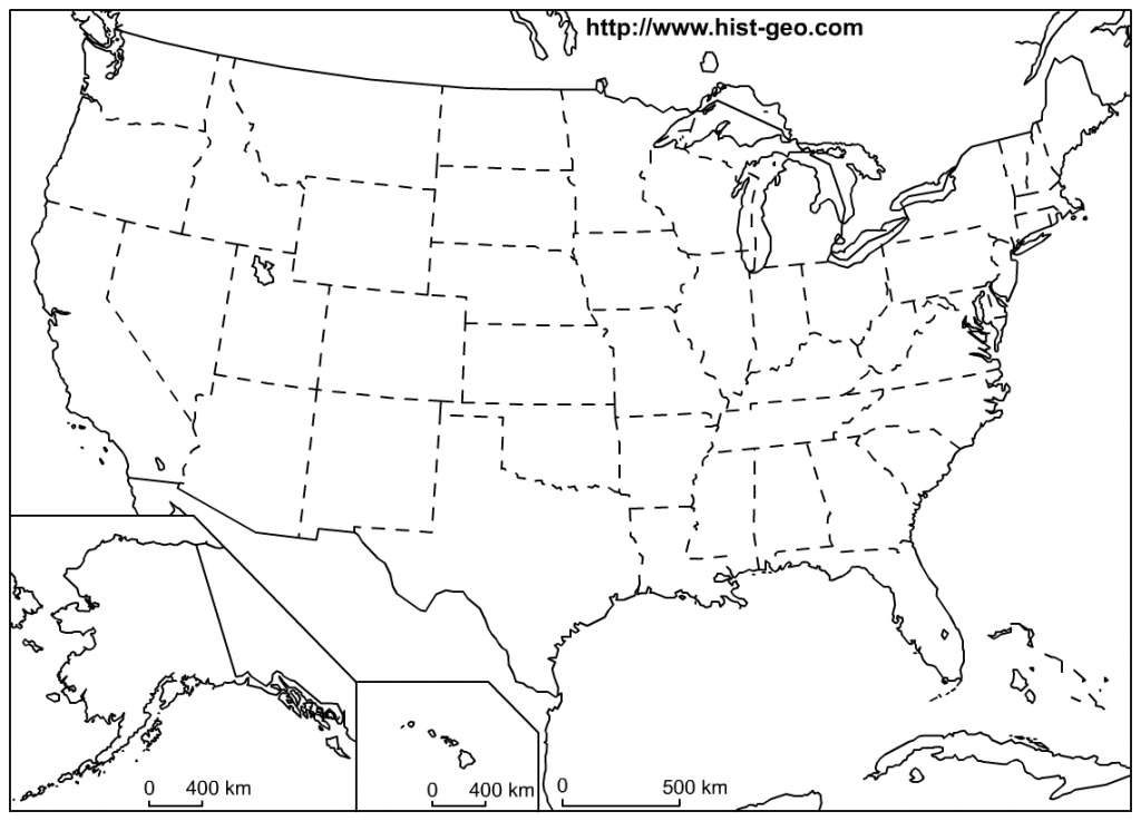 That Blank School Map Displaying The 50 States Of The United States regarding 50 States And Capitals Map Printable