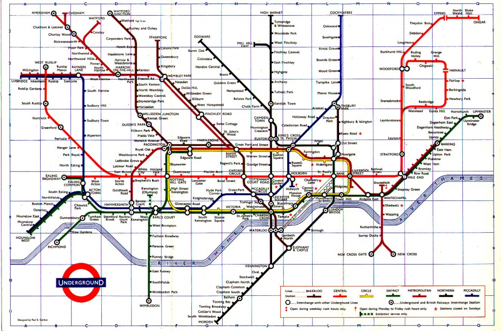 The London Tube Map Archive regarding London Underground Map Printable A4