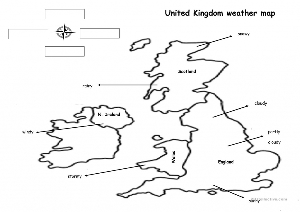 The Weather Map Worksheet - Free Esl Printable Worksheets Made inside Free Printable Weather Map Worksheets