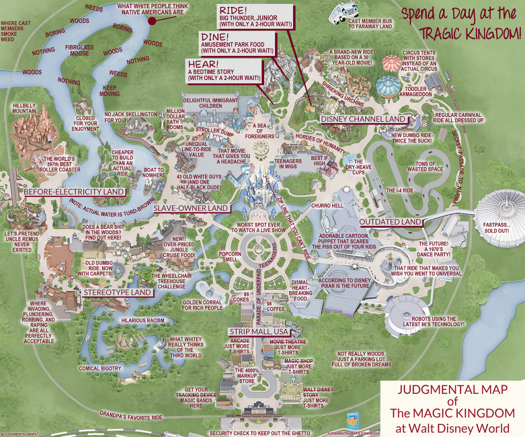 This 'judgmental Map' Of Magic Kingdom Is Pretty Accurate | Blogs with regard to Printable Magic Kingdom Map 2017