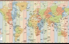 Time Zone World Map – World Wide Maps intended for World Time Zone Map Printable Free