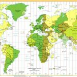 Time Zones Of The World Map (Large Version) In Maps With Time Zones Printable