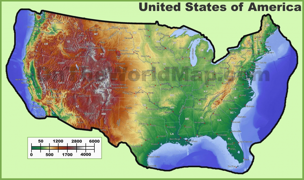 Topographic Map Eastern Us Inspirationa United States East Coast Map with regard to Printable Topographic Map Of The United States