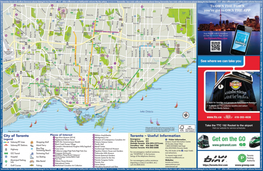 Toronto Maps | Canada | Maps Of Toronto pertaining to Printable Map Of Toronto