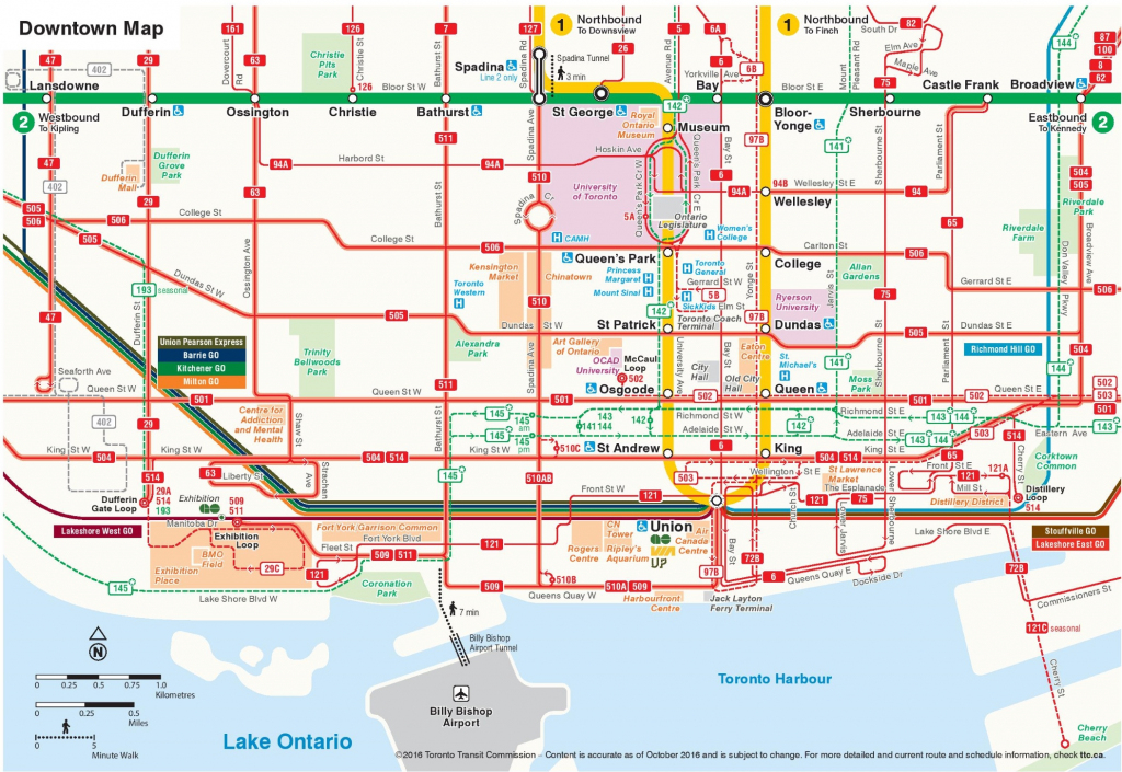 Toronto Maps | Canada | Maps Of Toronto throughout Printable Map Of Downtown Toronto