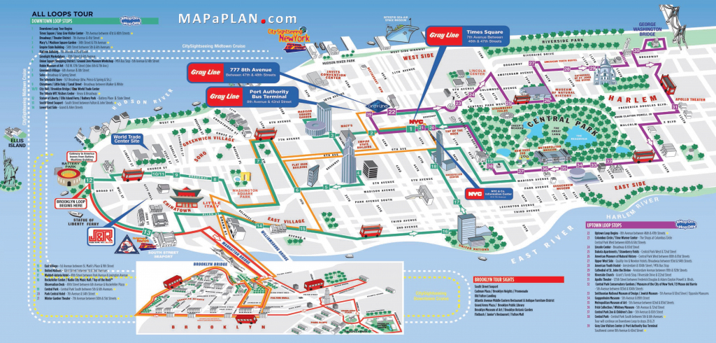 Tourist Map Of New York City Printable   Travel Maps And Major within Free Printable Map Of New York City