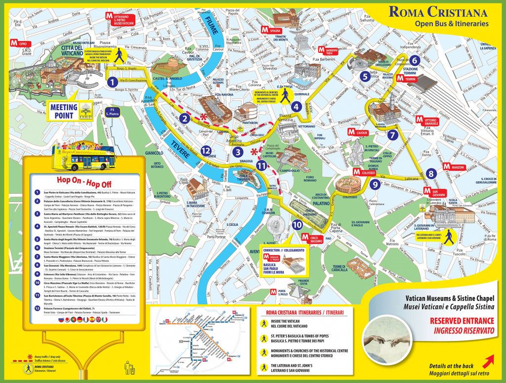 Tourist Map Of Rome City Centre with Rome City Map Printable
