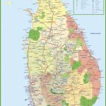 Tourist Map Of Sri Lanka In Printable Map Of Sri Lanka