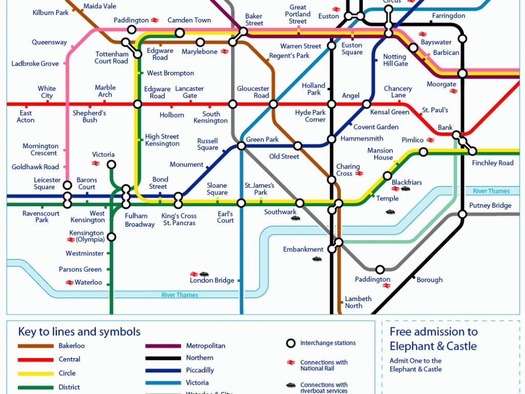 Tube Map Central London - Hoangduong throughout Central London Tube Map Printable
