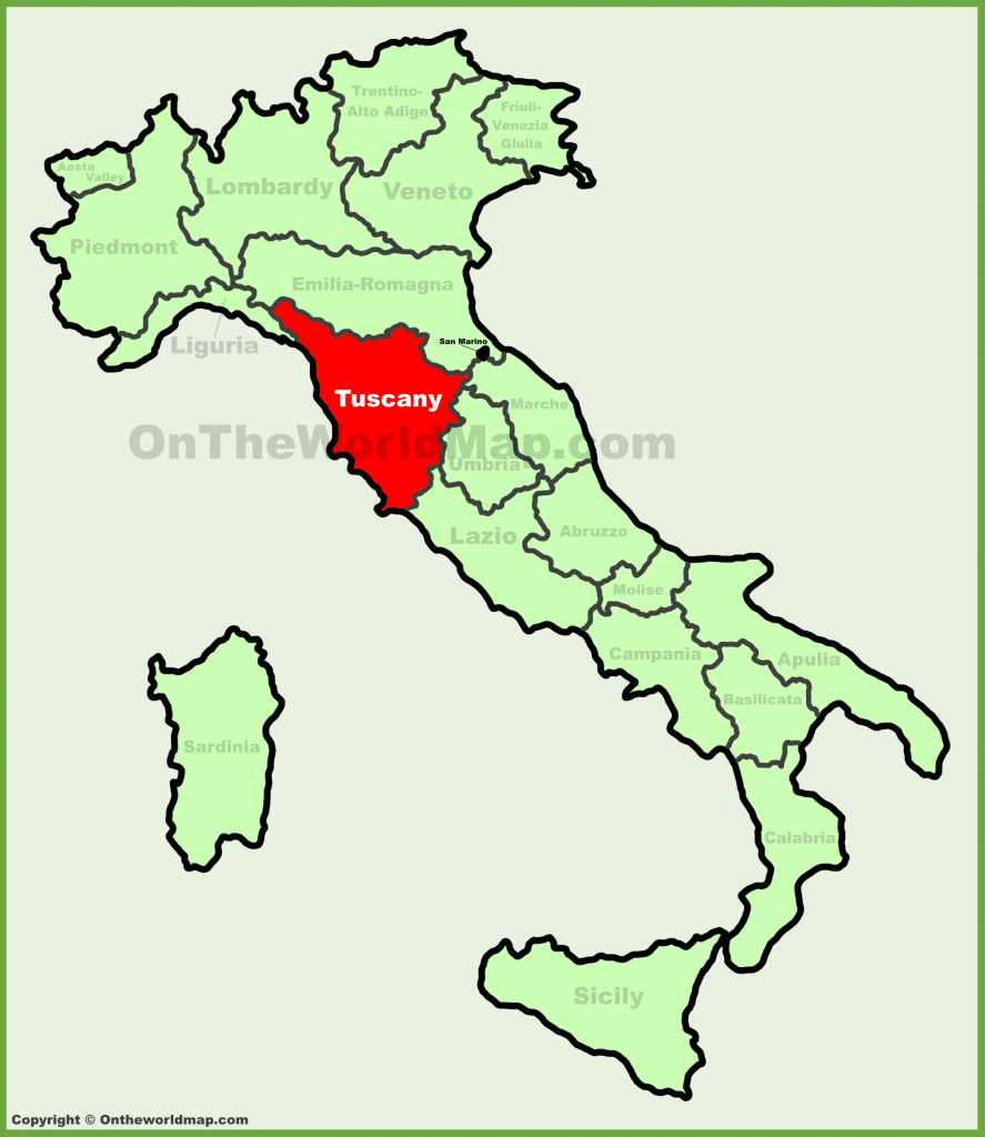 Tuscany Maps | Italy | Maps Of Tuscany (Toscana) pertaining to Printable Map Of Tuscany