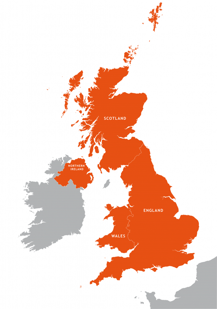 Uk Outline Map - Royalty Free Editable Vector Map - Maproom in Free Printable Map Of Uk And Ireland