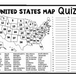 United States Map Quiz & Worksheet: Usa Map Test With Practice With Regard To 50 States And Capitals Map Quiz Printable