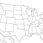 United States Map Unlabeled Refrence Blank Map Usa Us Blank Map Usa Inside Us Map Unlabeled Printable