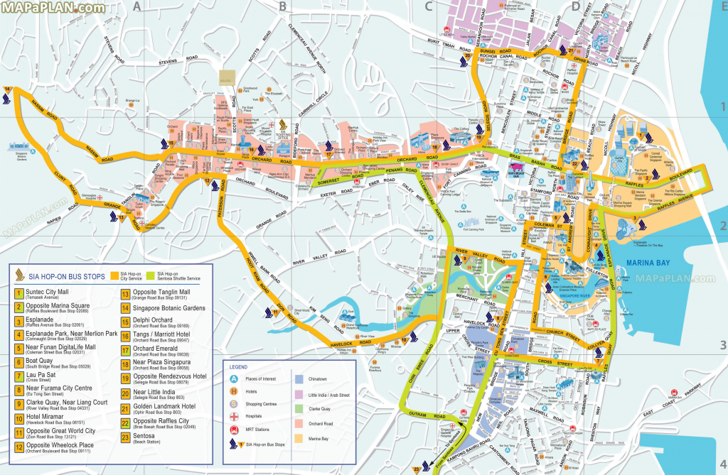 Universal Studios California Map Pdf Detailed Singapore Maps Top throughout Free Printable City Maps