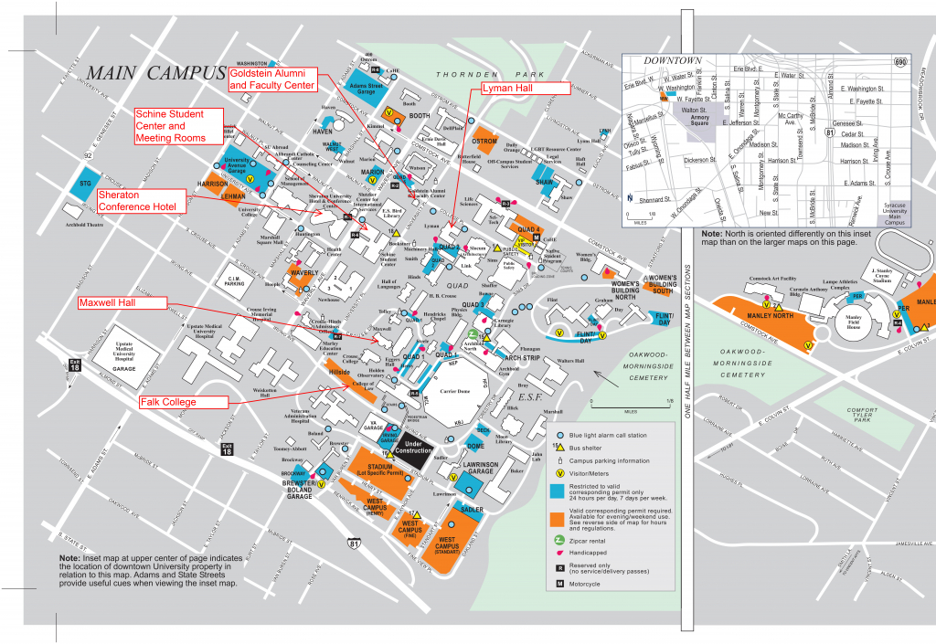 University Of Southern California Campus Map Free Printable Syracuse throughout Usc Campus Map Printable