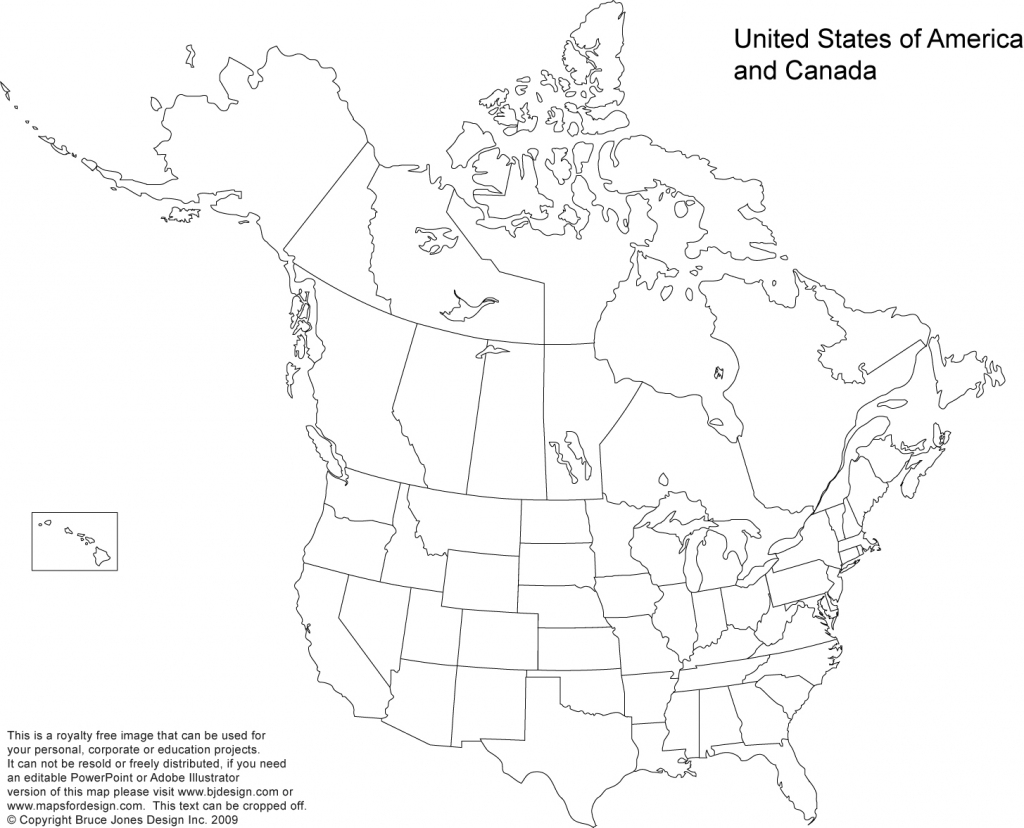 Us And Canada Printable, Blank Maps, Royalty Free • Clip Art pertaining to Printable Map Of Us And Canada