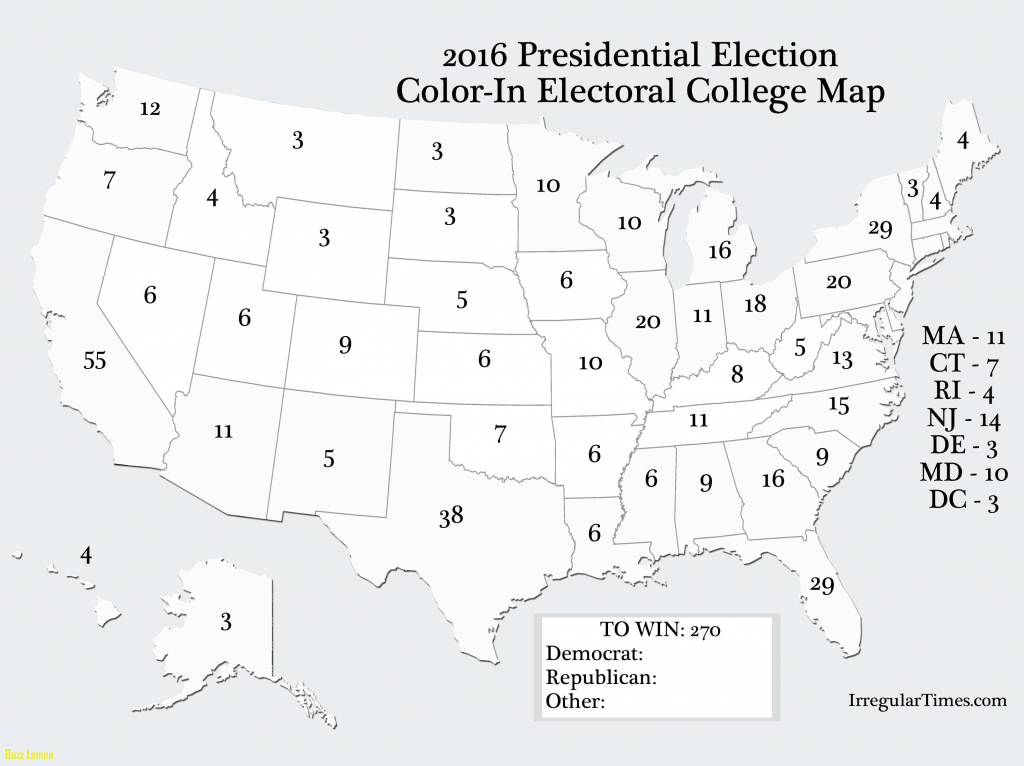 Us Election Results Map Cnn New Simple Blank Electoral College Map inside 2016 Printable Electoral Map