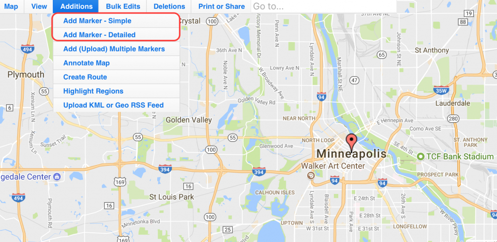 Use Map Maker To Add Locations On An Interactive Zeemaps Map in Make A Printable Map With Multiple Locations