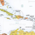 Vector Map Of Caribbean Political | One Stop Map Within Printable Map Of The Caribbean