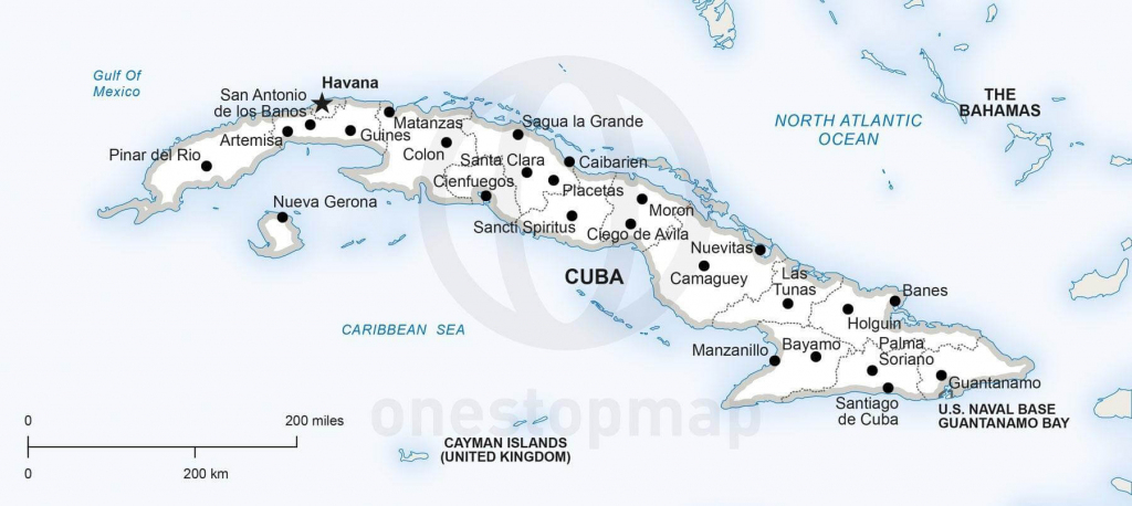 Vector Map Of Cuba Political | One Stop Map with regard to Havana City Map Printable