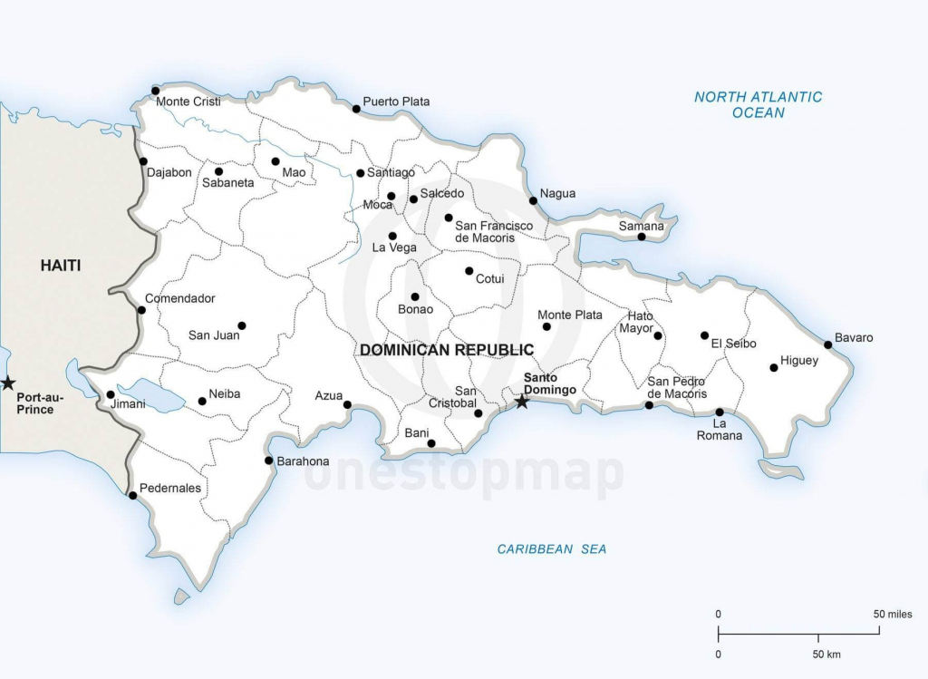 Vector Map Of Dominican Republic Political   One Stop Map inside Printable Map Of Dominican Republic