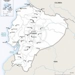 Vector Map Of Ecuador Political | One Stop Map Throughout Printable Map Of Ecuador