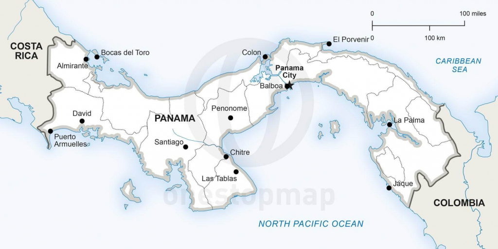 Vector Map Of Panama Political   One Stop Map for Printable Map Of Panama