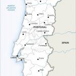 Vector Map Of Portugal Political | One Stop Map Regarding Printable Map Of Portugal