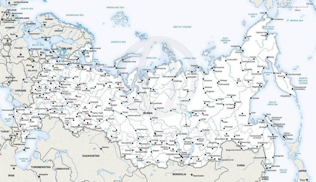 Vector Map Of Russia Political | One Stop Map intended for Printable Map Of Russia