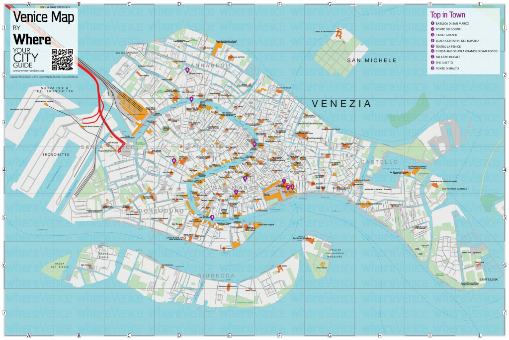 Venice City Map - Free Download In Printable Version   Where Venice inside Tourist Map Of Venice Printable