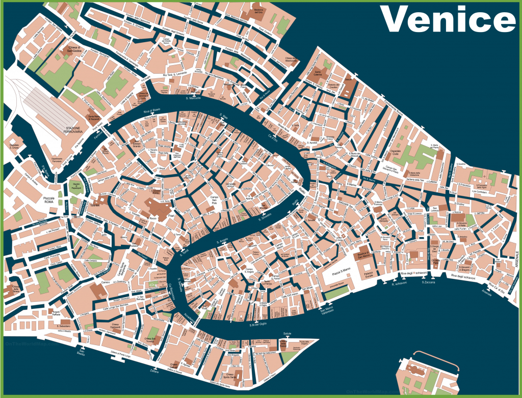 Venice Street Map Great Street Map Of Venice Italy Printable inside Venice Street Map Printable