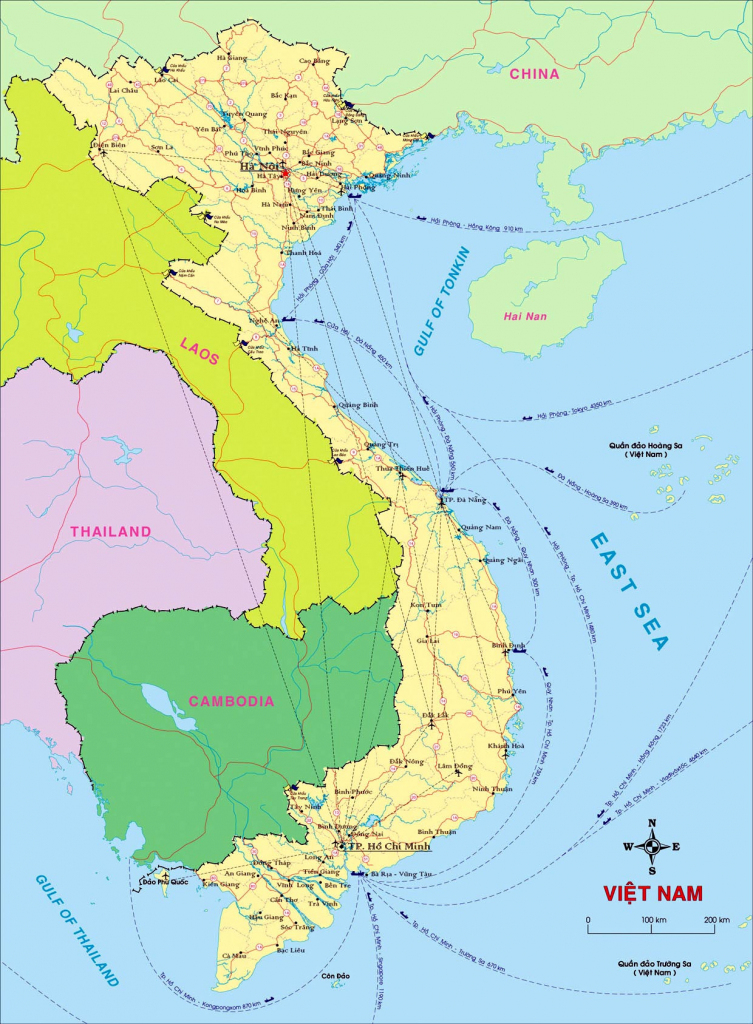 Vietnam Maps | Printable Maps Of Vietnam For Download with Printable Map Of Vietnam