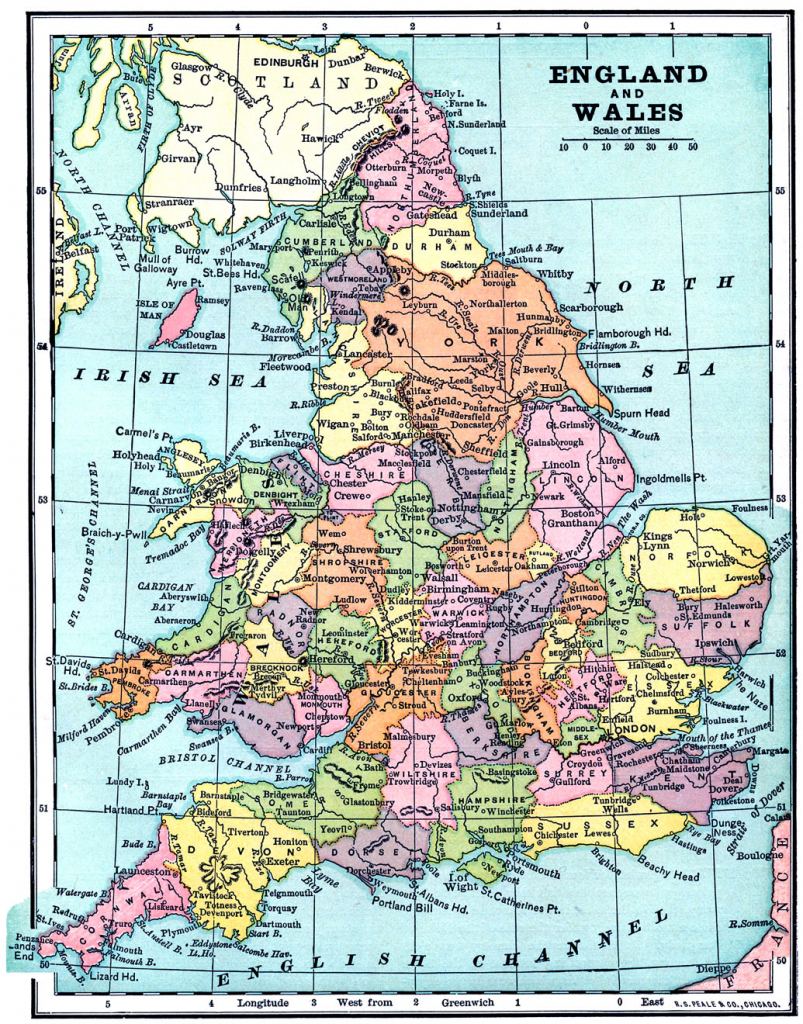 Vintage Printable - Map Of England And Wales - The Graphics Fairy in Printable Map Of