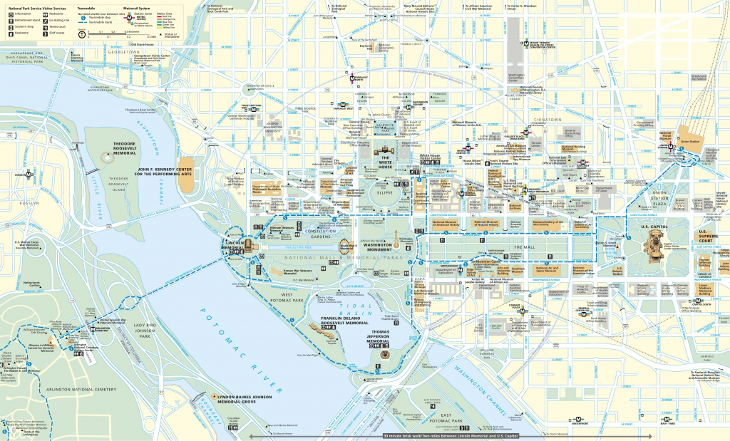 Washington, D.c. Tourist Map intended for Printable Walking Tour Map Of Washington Dc