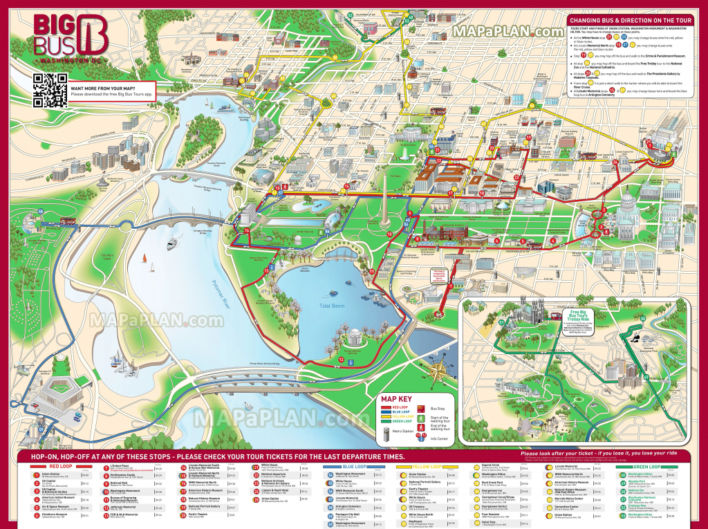 Washington Dc Maps - Top Tourist Attractions - Free, Printable City regarding Printable Walking Map Of Washington Dc