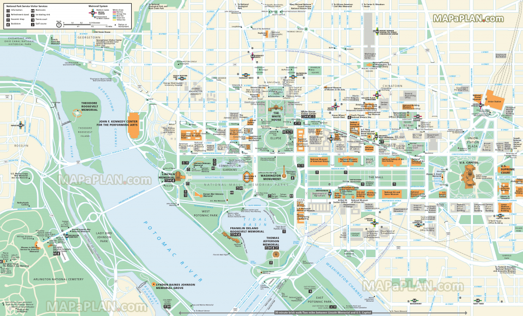 Washington Dc Maps - Top Tourist Attractions - Free, Printable City with regard to Map Of Downtown Washington Dc Printable