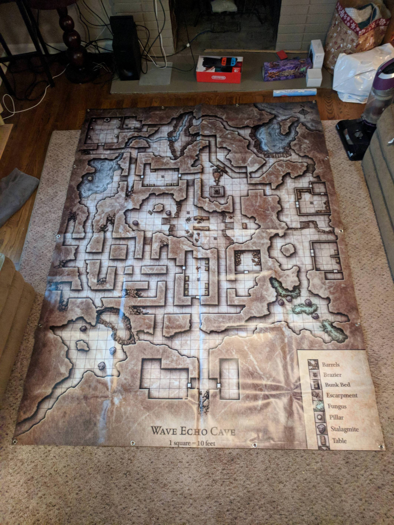 Wave Echo Cave Full-Size Map : Dnd with regard to Lost Mine Of Phandelver Printable Maps